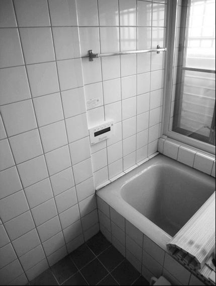 浴室手すり取付け前