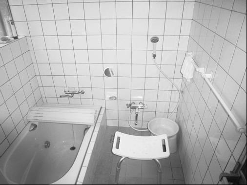 浴室の手すり取り付け前