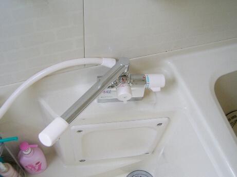 デッキ水栓交換後