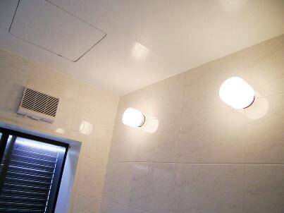 浴室照明交換後