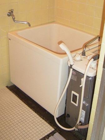 内釜を給湯器に交換後